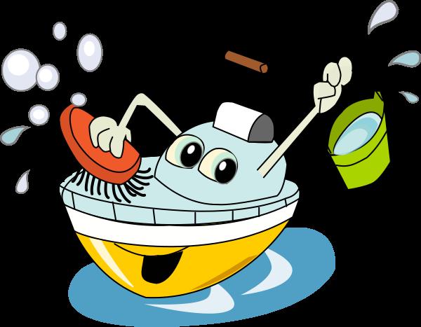 Tvätta båten